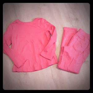 Cat & Jack Girls Pink Glitter Pants Matching Set